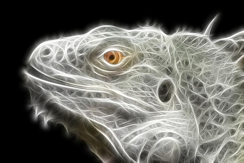 Imagen brillante del fractal de un lagarto de la iguana imágenes de archivo libres de regalías
