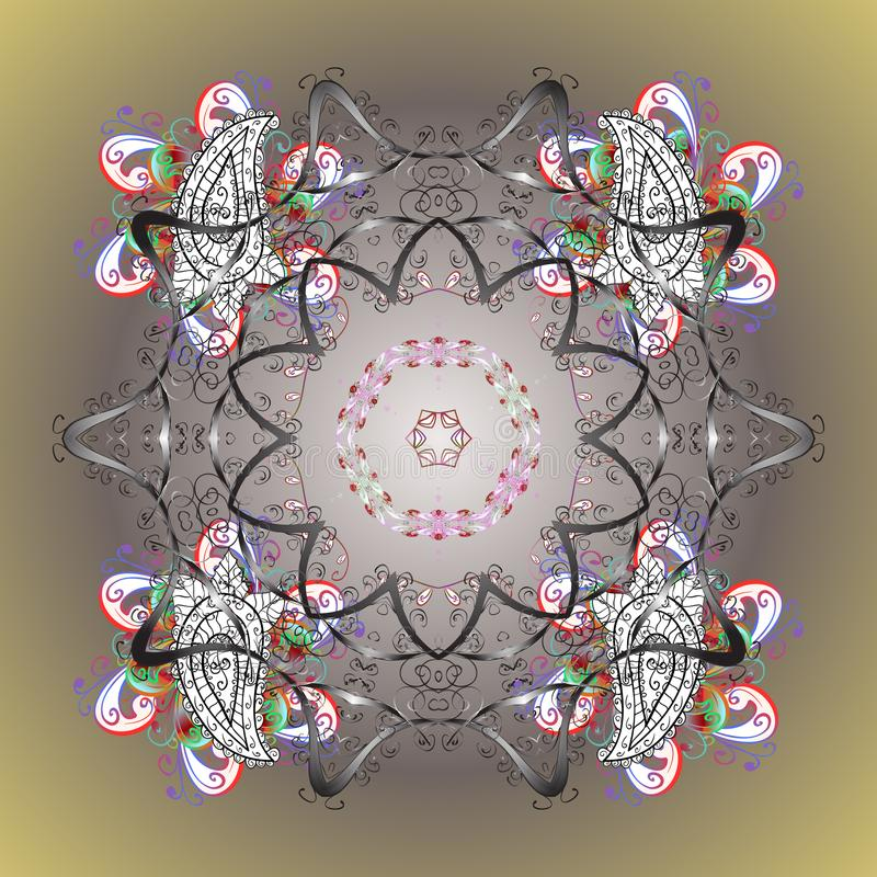 Imagen coloreada extracto stock de ilustración