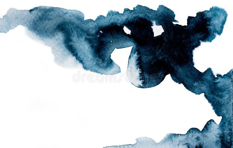 Imagen coloreada oscura de la acuarela imágenes de archivo libres de regalías