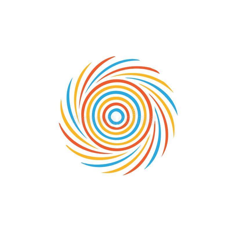 Imagen colorida abstracta del remolino ilustración del vector