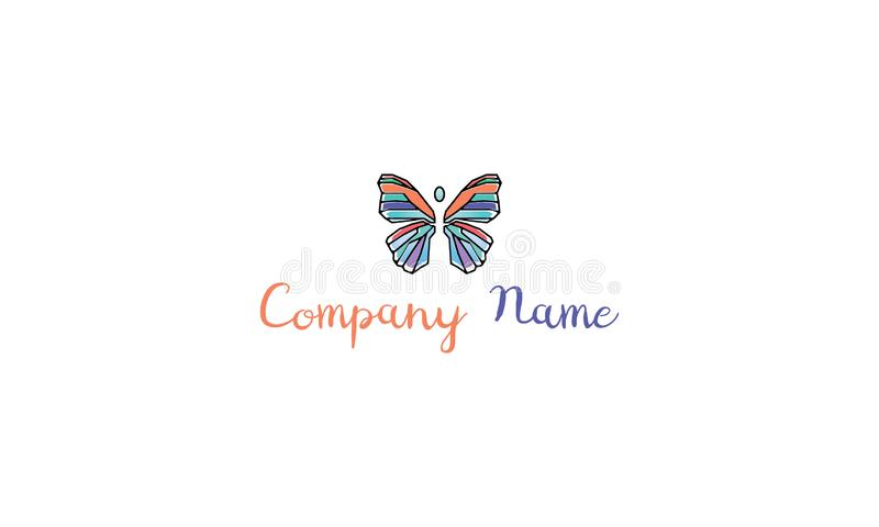 Imagen colorida del logotipo del vector de la mariposa ilustración del vector