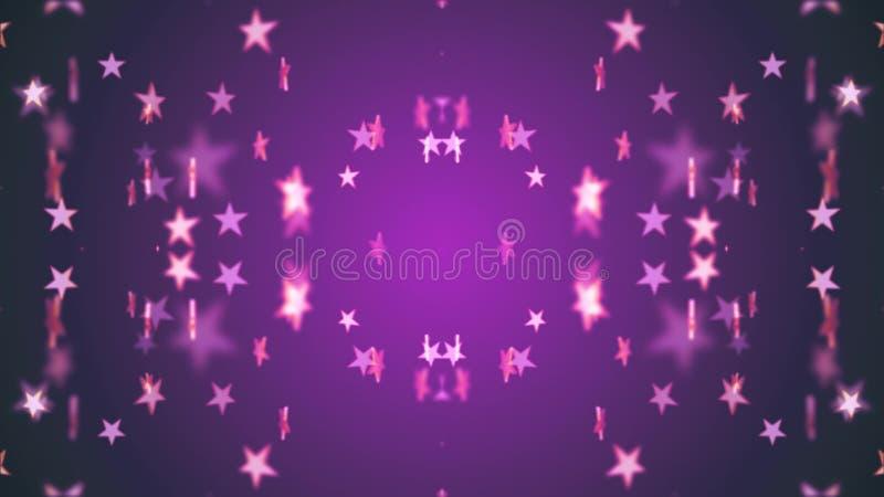 Imagen común alegre universal colorida de la música de danza de estrellas del modelo día de fiesta brillante simétrico del ejempl stock de ilustración