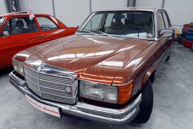 Imagen común automotriz del vintage de Mercedes-Benz S-klass W116 fotos de archivo