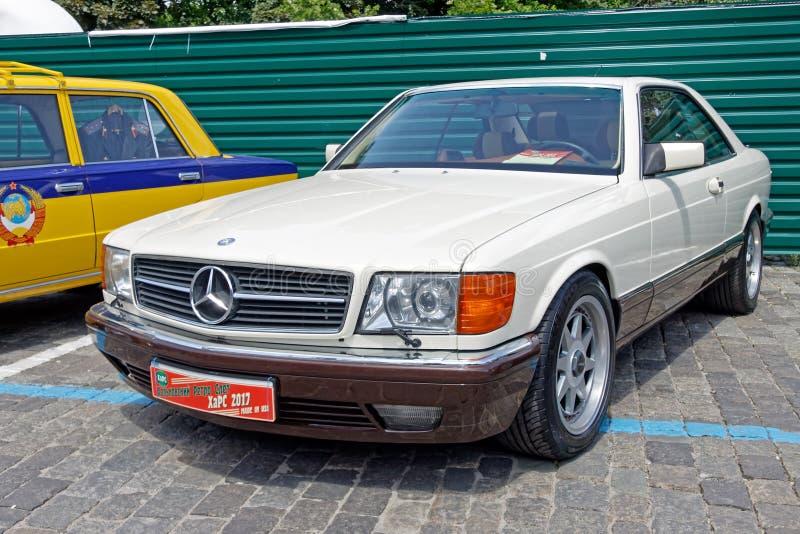 Imagen común automotriz del vintage del SEK 500 de Mercedes-Benz fotografía de archivo libre de regalías