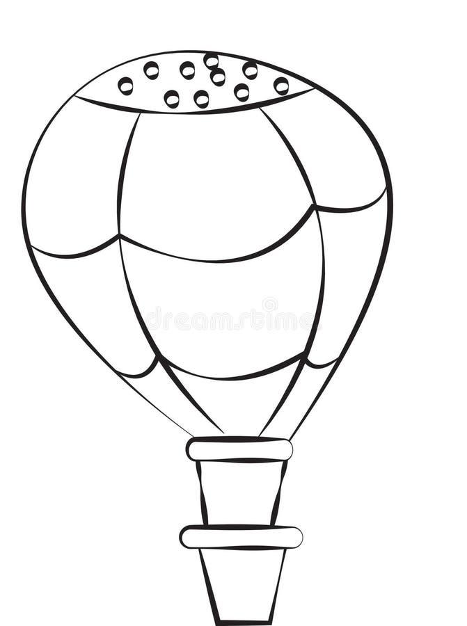 Imagen común: Balón de aire ilustración del vector