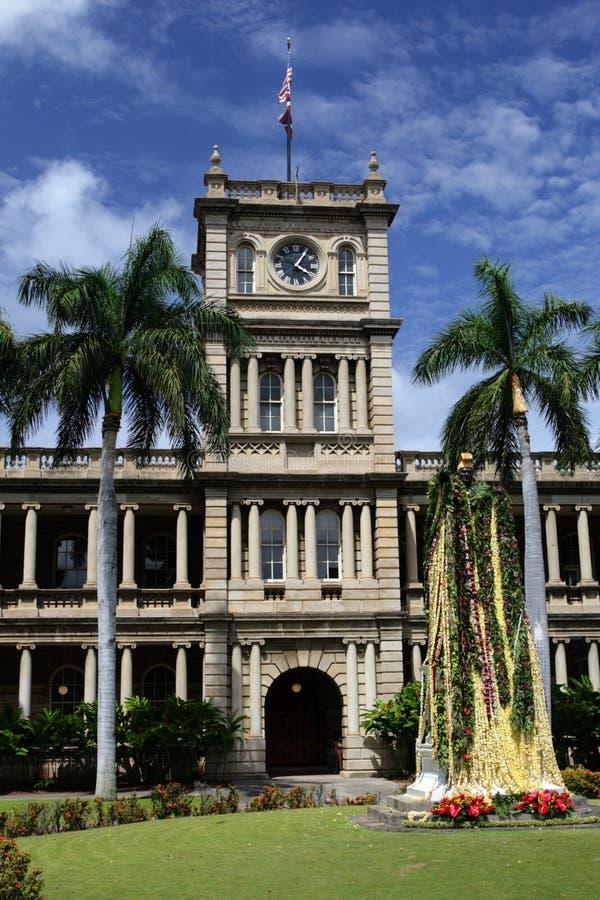 Imagen común de la estatua de rey Kamehameha, Honolulu, Hawaii foto de archivo