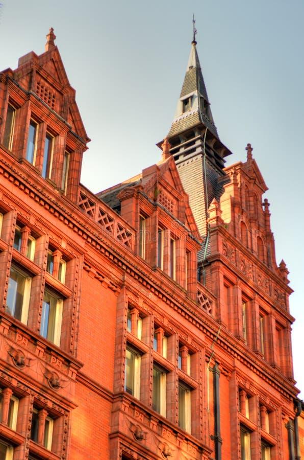 Imagen común de la vieja arquitectura en Nottingham, Inglaterra foto de archivo libre de regalías