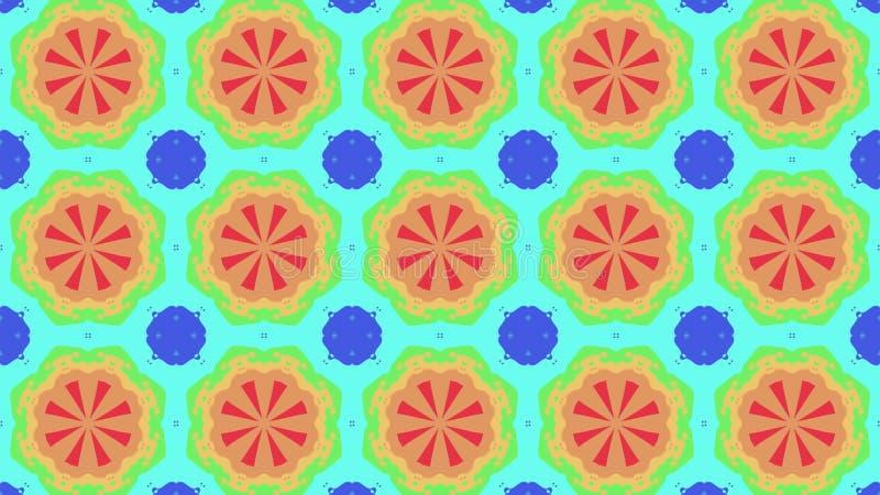 Imagen común del caleidoscopio de la forma del modelo del ejemplo del fondo de la nueva música alegre universal colorida ornament libre illustration