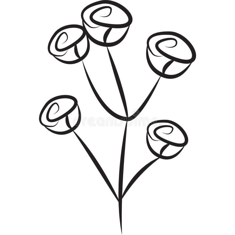 Imagen común: Rosas ilustración del vector