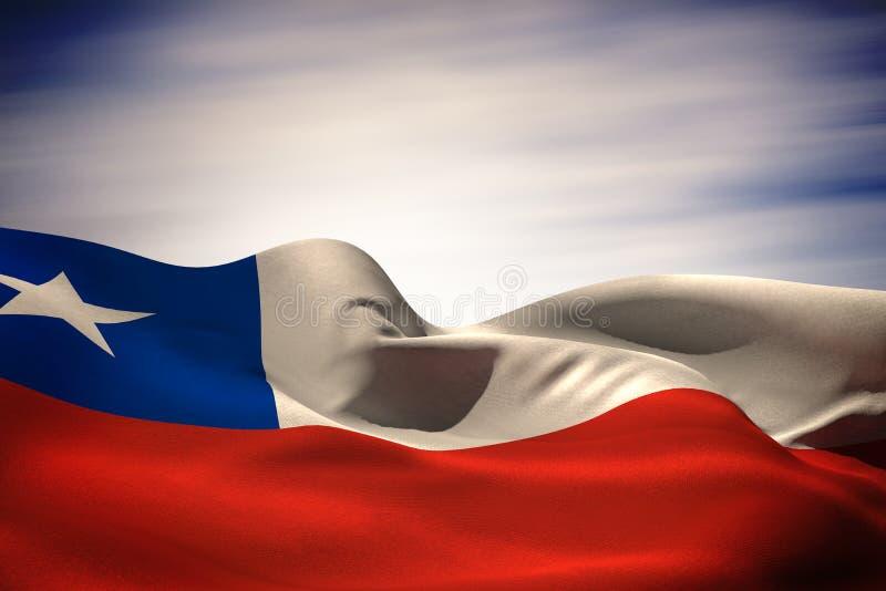 Imagen compuesta de agitar de la bandera del chile libre illustration