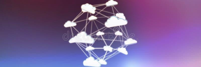 Imagen compuesta de la imagen abstracta del símbolo computacional de la nube ilustración del vector