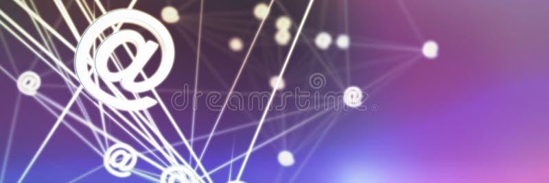 Imagen compuesta de la imagen abstracta en de la muestra del correo electrónico ilustración del vector