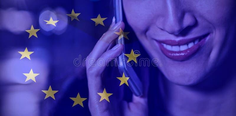 Imagen compuesta de la bandera europea libre illustration