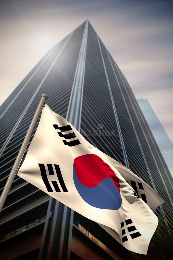 Imagen compuesta de la bandera nacional de la Corea del Sur imágenes de archivo libres de regalías