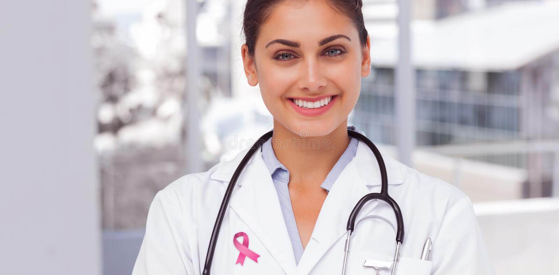 Imagen compuesta de la cinta de la conciencia del cáncer de pecho fotografía de archivo