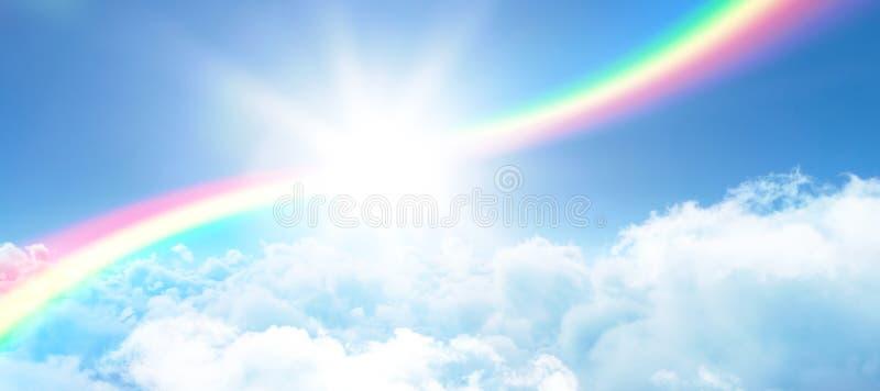 Imagen compuesta de la imagen del ejemplo del arco iris fotos de archivo