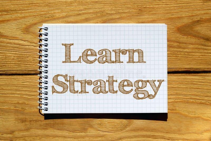 Imagen compuesta de la imagen digital de la estrategia Learn ilustración del vector