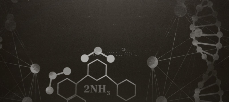Imagen compuesta de la estructura de hélice de la DNA contra el fondo blanco fotografía de archivo