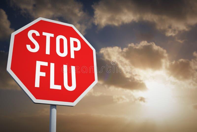 Imagen compuesta de la gripe de la parada fotos de archivo