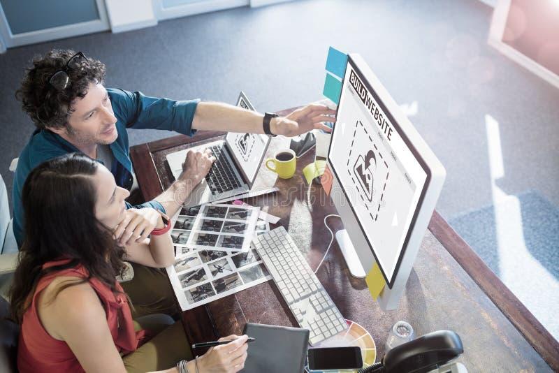 Imagen compuesta de la imagen compuesta del interfaz del sitio web de la estructura fotografía de archivo libre de regalías