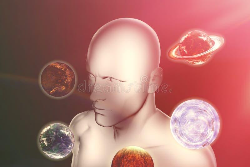 Imagen compuesta de la imagen compuesta digital del planeta Urano libre illustration