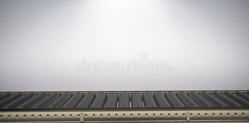 Imagen compuesta de la imagen digital de la banda transportadora vacía ilustración del vector