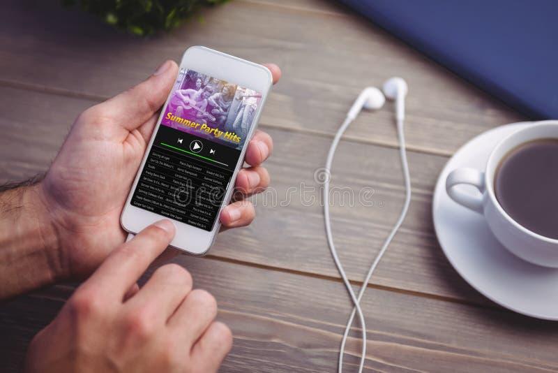 Imagen compuesta de la música app fotos de archivo libres de regalías