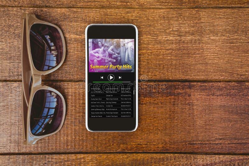 Imagen compuesta de la música app libre illustration