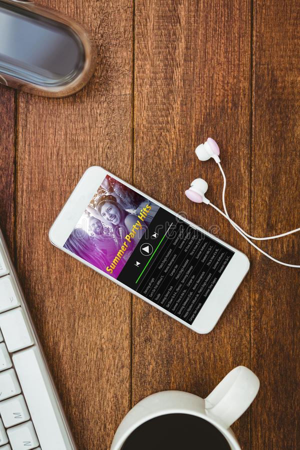 Imagen compuesta de la música app stock de ilustración