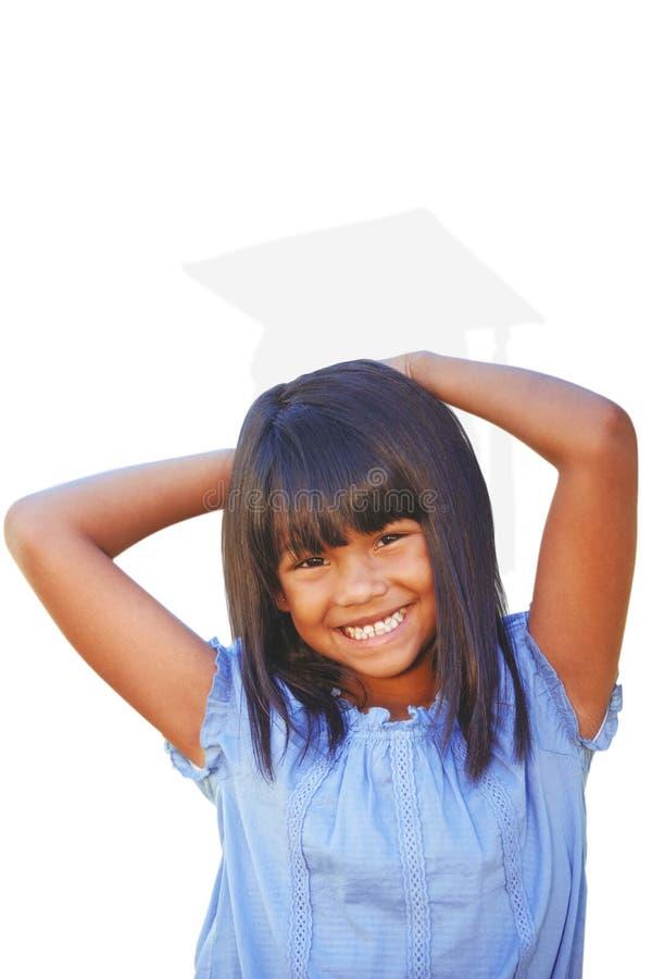 Imagen compuesta de la niña linda en el parque foto de archivo libre de regalías