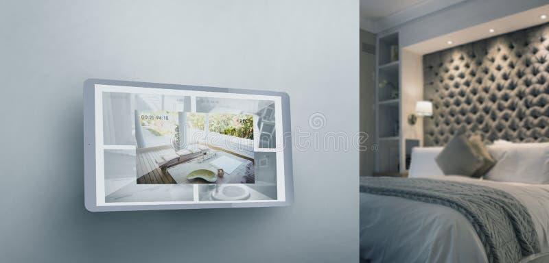 Imagen compuesta de la pantalla de la tableta digital imagenes de archivo