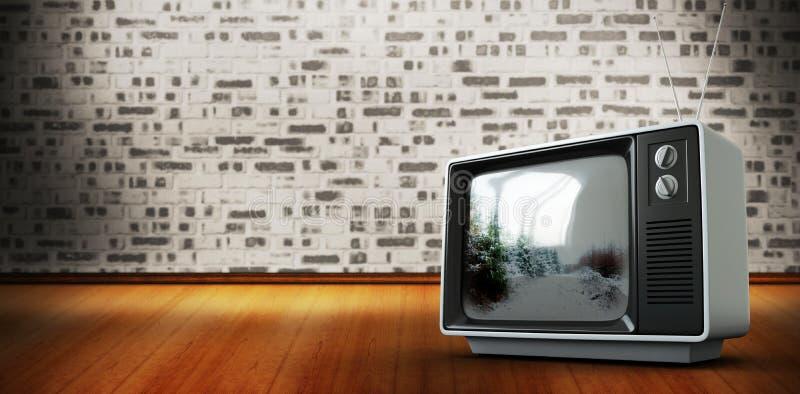 Imagen compuesta de la TV retra ilustración del vector