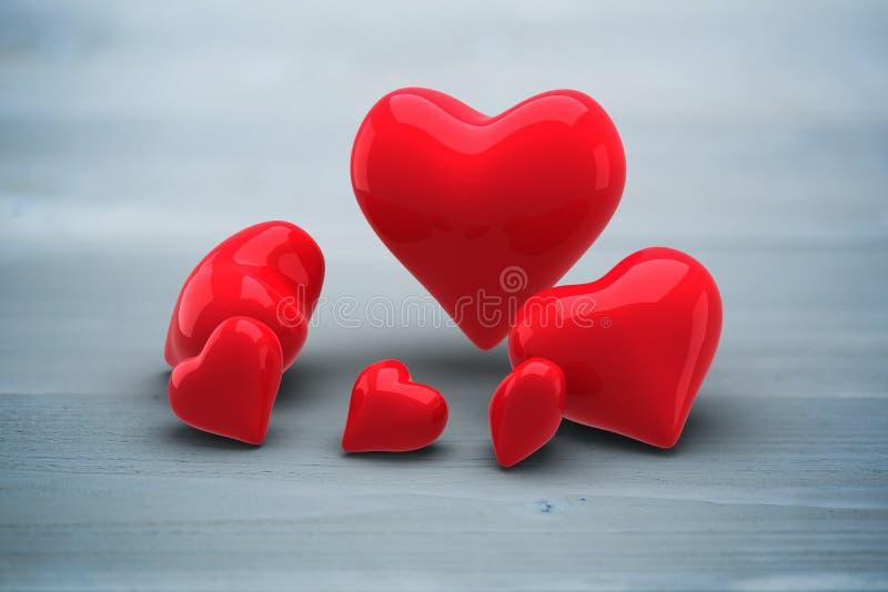 Imagen compuesta de los corazones del amor libre illustration