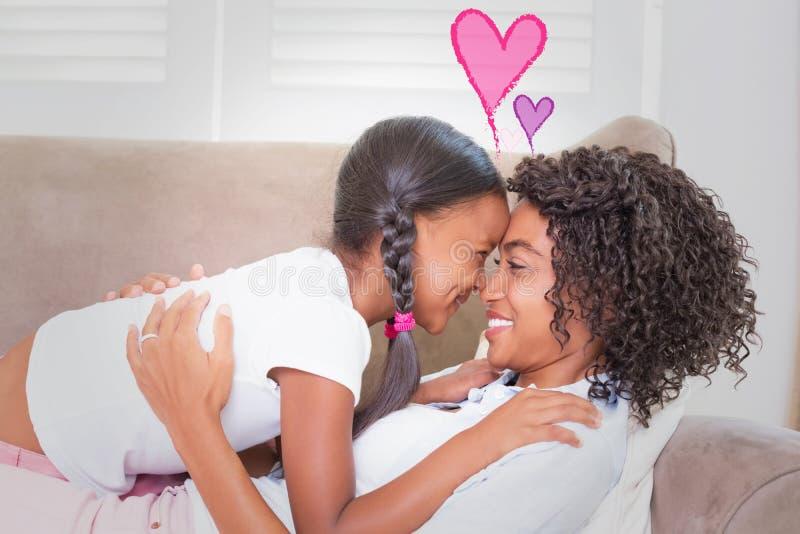 Imagen compuesta de los corazones del amor de las tarjetas del día de San Valentín libre illustration