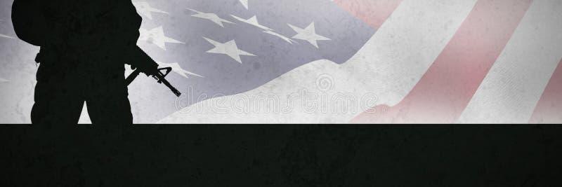 Imagen compuesta del cierre para arriba del nosotros bandera imagen de archivo