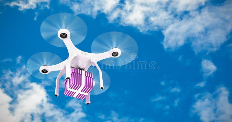 Imagen compuesta del compuesto digital del quadcopter ilustración del vector