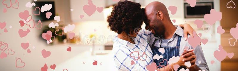 Imagen compuesta del diseño del corazón de las tarjetas del día de San Valentín imagenes de archivo