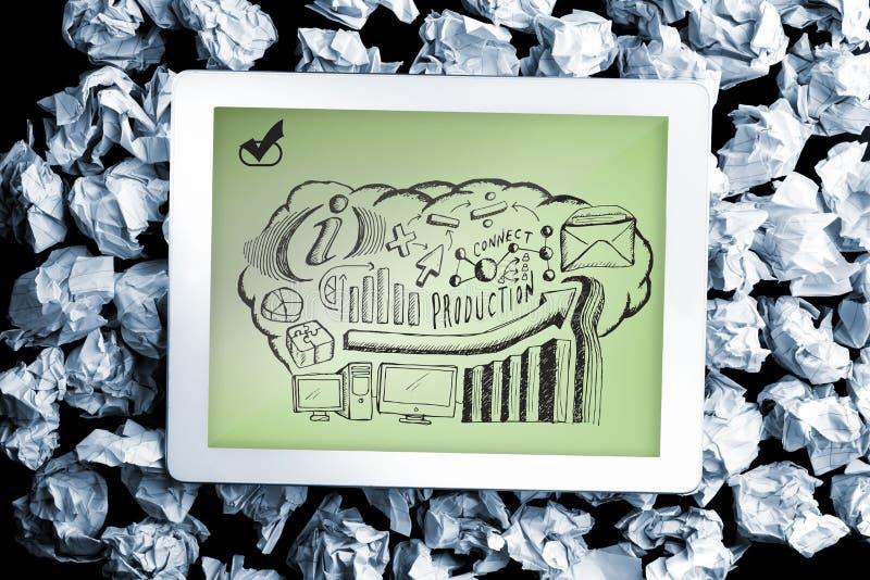 Imagen compuesta del garabato del intercambio de ideas del negocio libre illustration