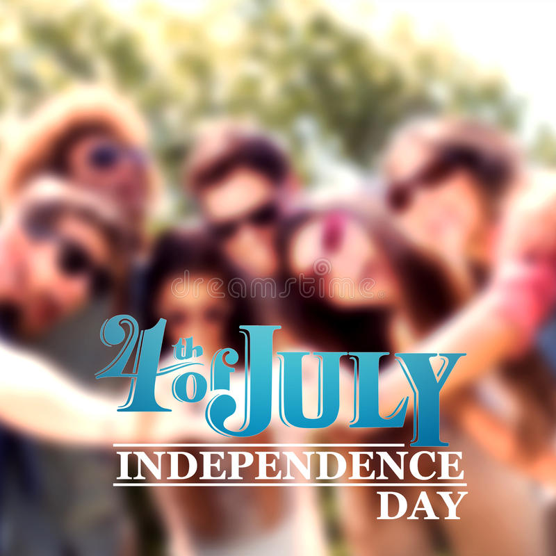 Imagen compuesta del gráfico del Día de la Independencia ilustración del vector