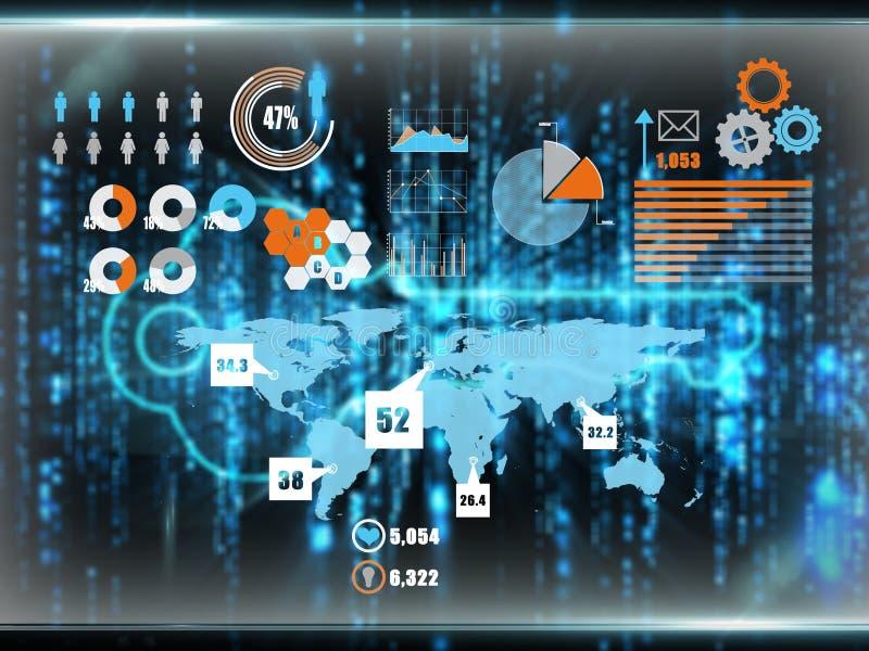 Imagen compuesta del interfaz del negocio libre illustration