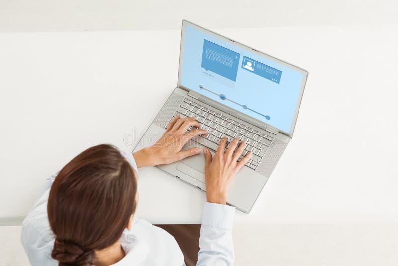 Imagen compuesta del interfaz del sitio web imágenes de archivo libres de regalías