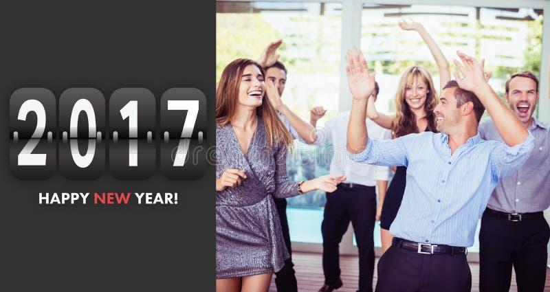 Imagen compuesta del mensaje 2017 imagen de archivo