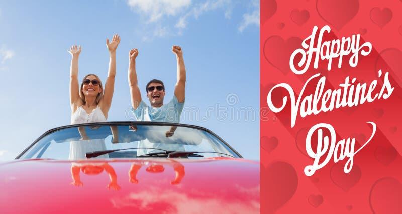 Imagen compuesta del mensaje lindo de las tarjetas del día de San Valentín foto de archivo libre de regalías