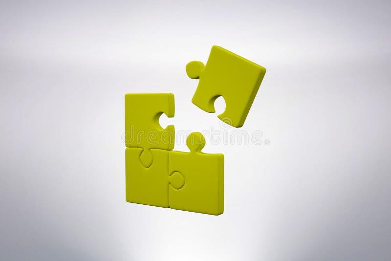 Imagen compuesta del pedazo de rompecabezas libre illustration