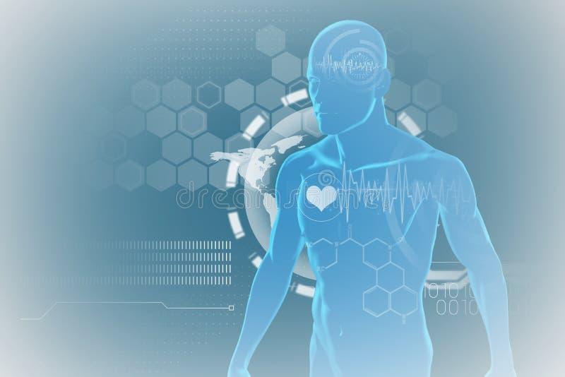 Imagen compuesta del rastro del pulso del corazón contra fondo negro libre illustration
