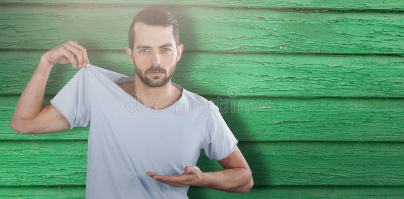 Imagen compuesta del retrato del paño que muestra modelo masculino fotos de archivo libres de regalías