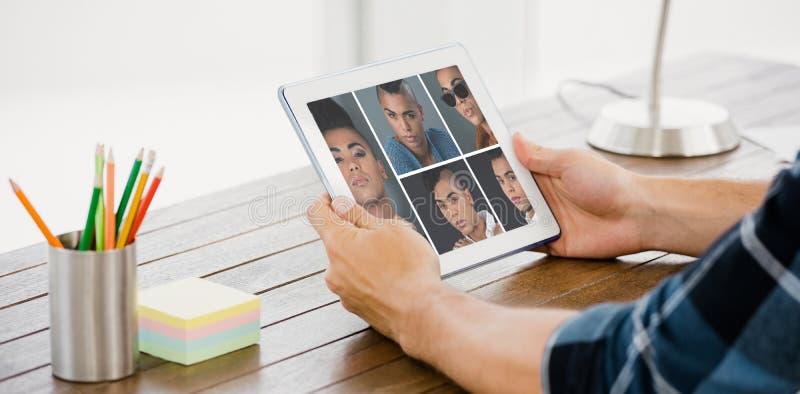 Imagen compuesta del retrato solos 5 del collage de la gente fotos de archivo