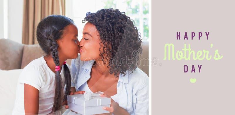 Imagen compuesta del saludo del día de madres ilustración del vector