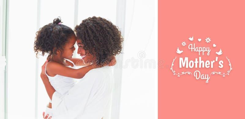Imagen compuesta del saludo del día de madres stock de ilustración
