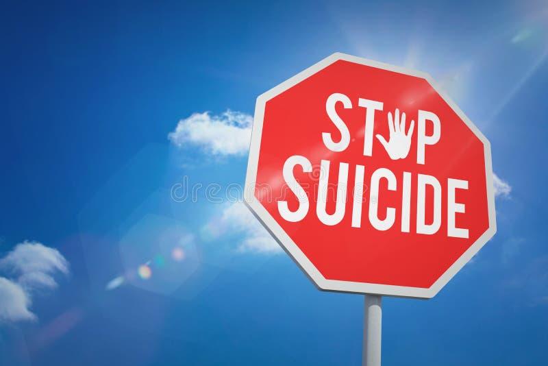 Imagen compuesta del suicidio de la parada fotografía de archivo libre de regalías
